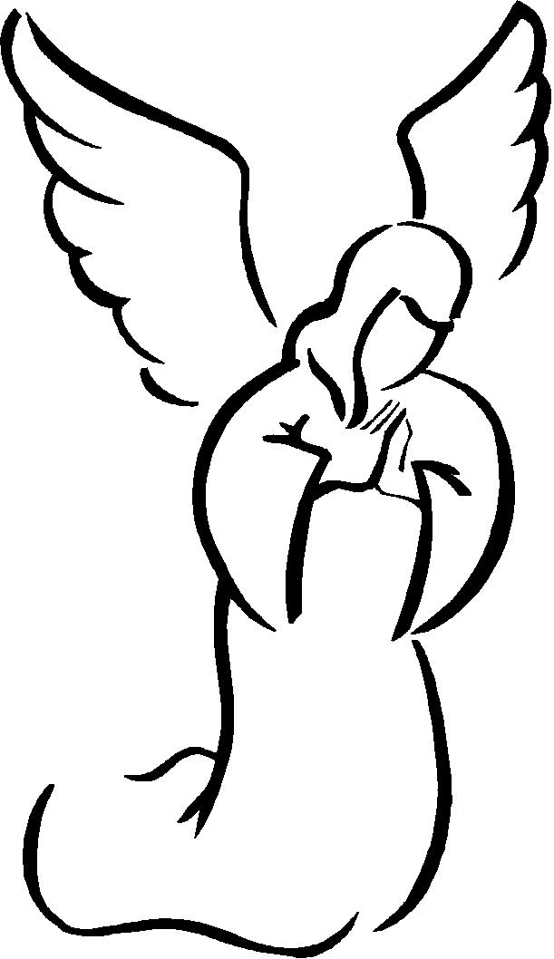 611x1058 Angel Sketch Cliparts