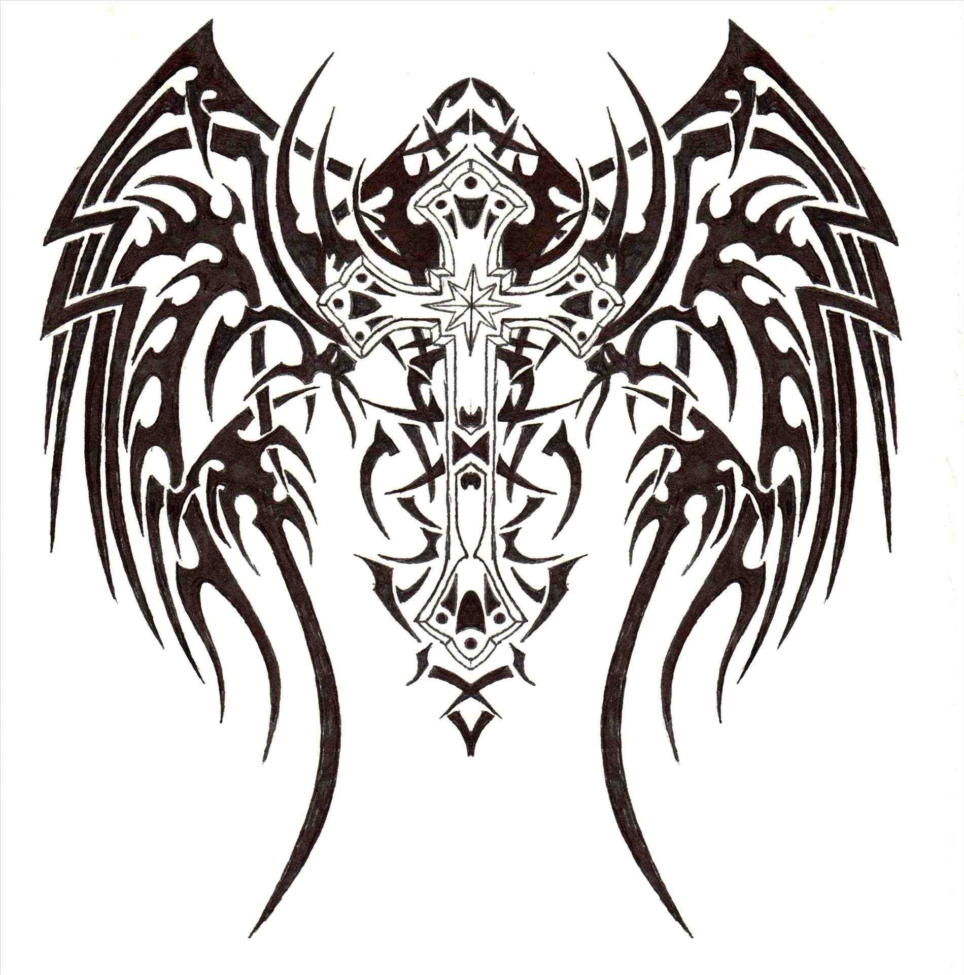 1900x1921 Cool Easy Drawings Of Crosses With Wings