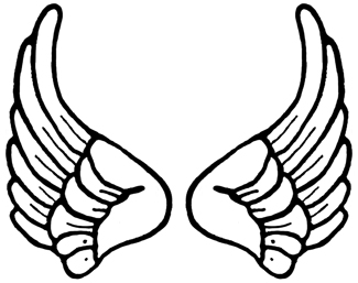 325x257 Angel Wings Clipart