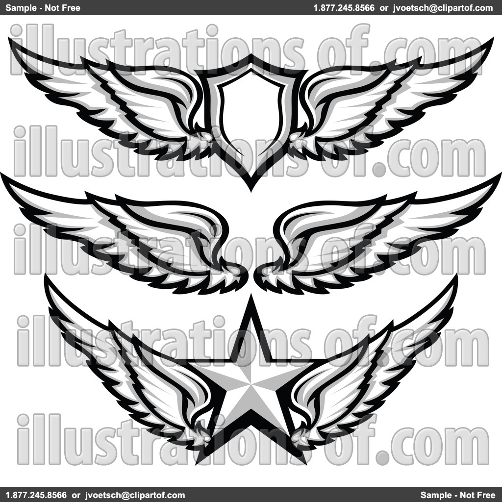 1024x1024 Simple Angel Wings Clip Art Thewealthbuilding