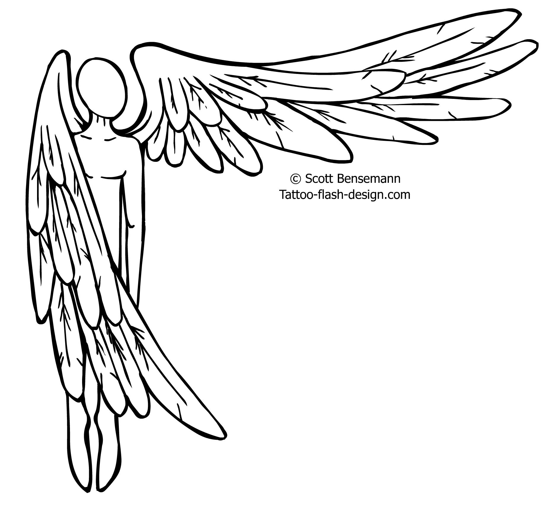 1886x1738 Top Simple Angel Tattoo Drawings Images For Tattoos