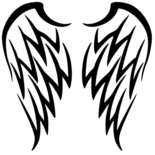 Simple Angel Wings Drawings | Free download best Simple ...