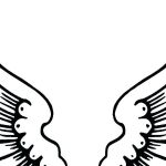 150x150 Remarkable Remarkable Angel Wings Coloring Pages Print Wing