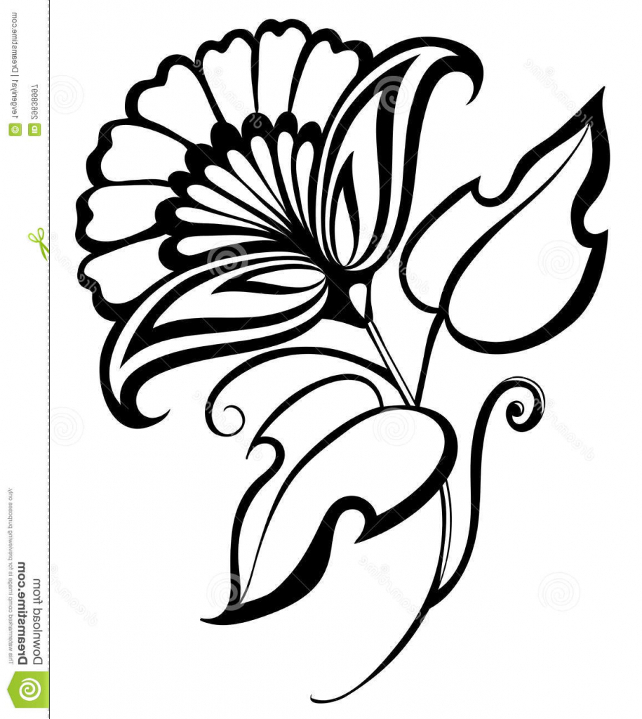 915x1024 Simple Floral Designs For Drawing Simple Flower Designs Clipart