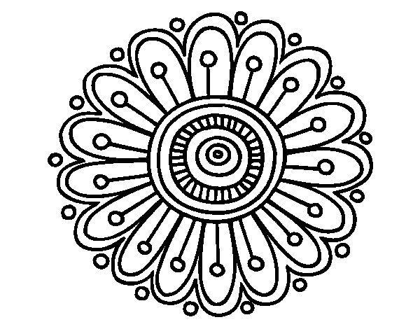 600x470 Simple Clipart Mandala