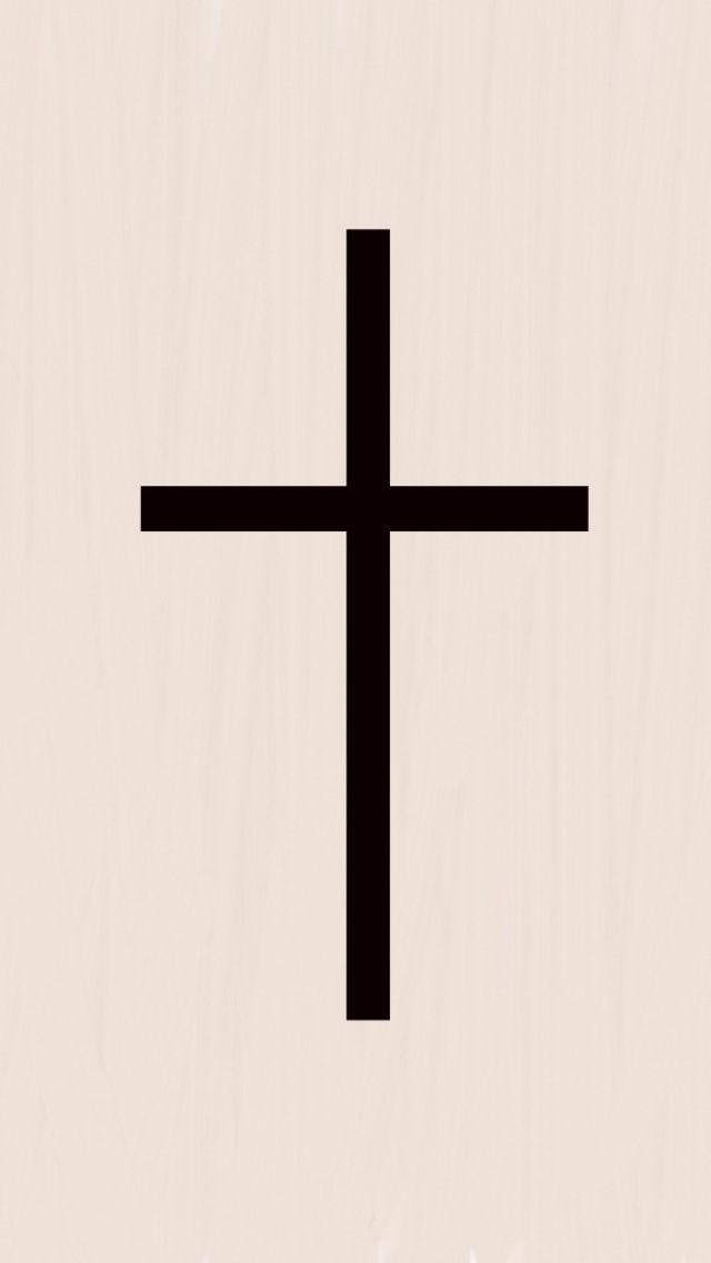 640x1136 Best Simple Black Cross