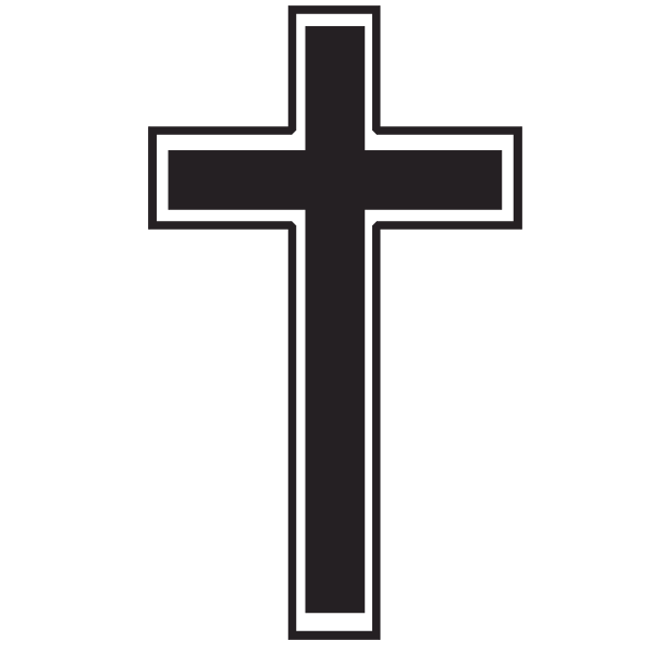 600x600 Best Simple Black Cross