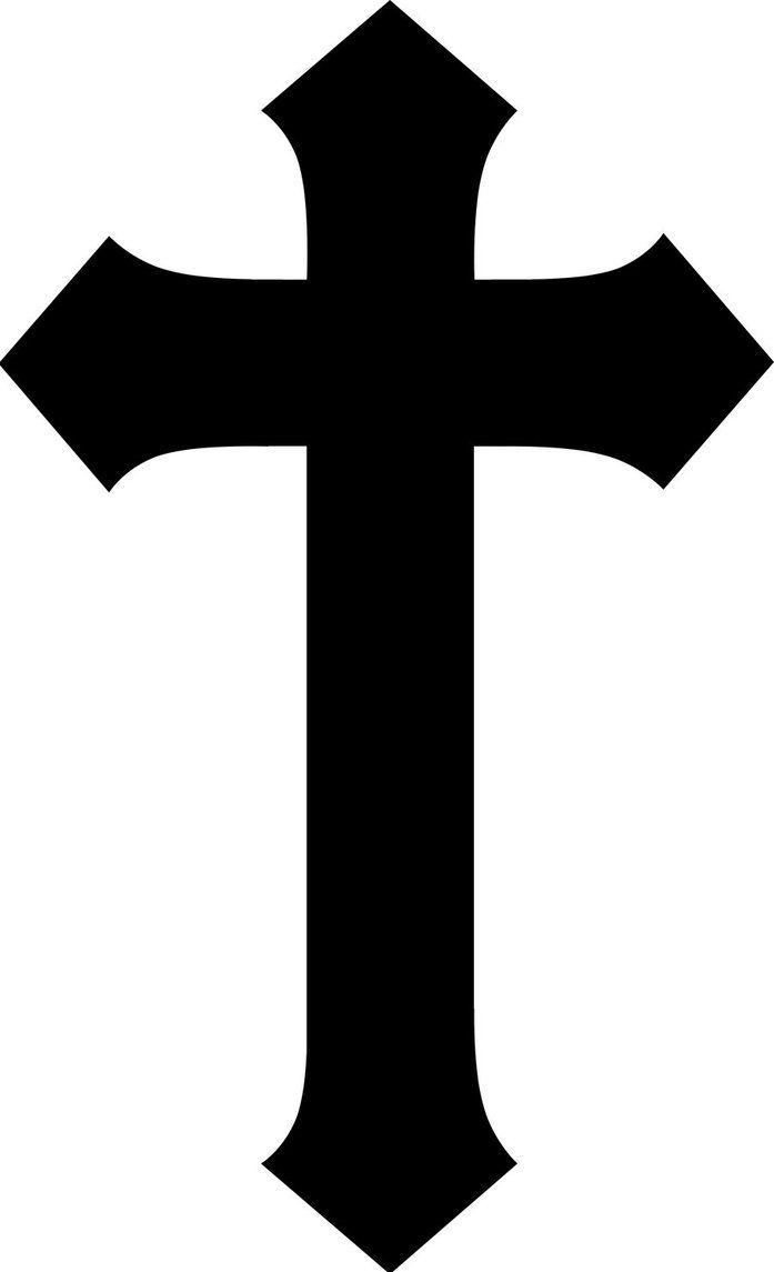 697x1145 22 Best Black Plain Cross Tattoo Images Black, Clip