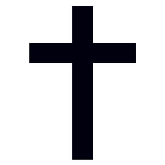 544x544 Simple Black Cross Temporary Tattoo