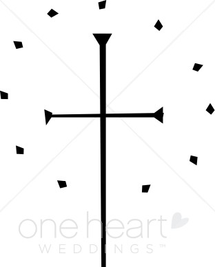 312x388 Simple Black Cross With Diamond Circle Cross Wedding Clipart