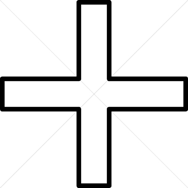 600x600 Simple Equal Sided Cross Cross Clipart