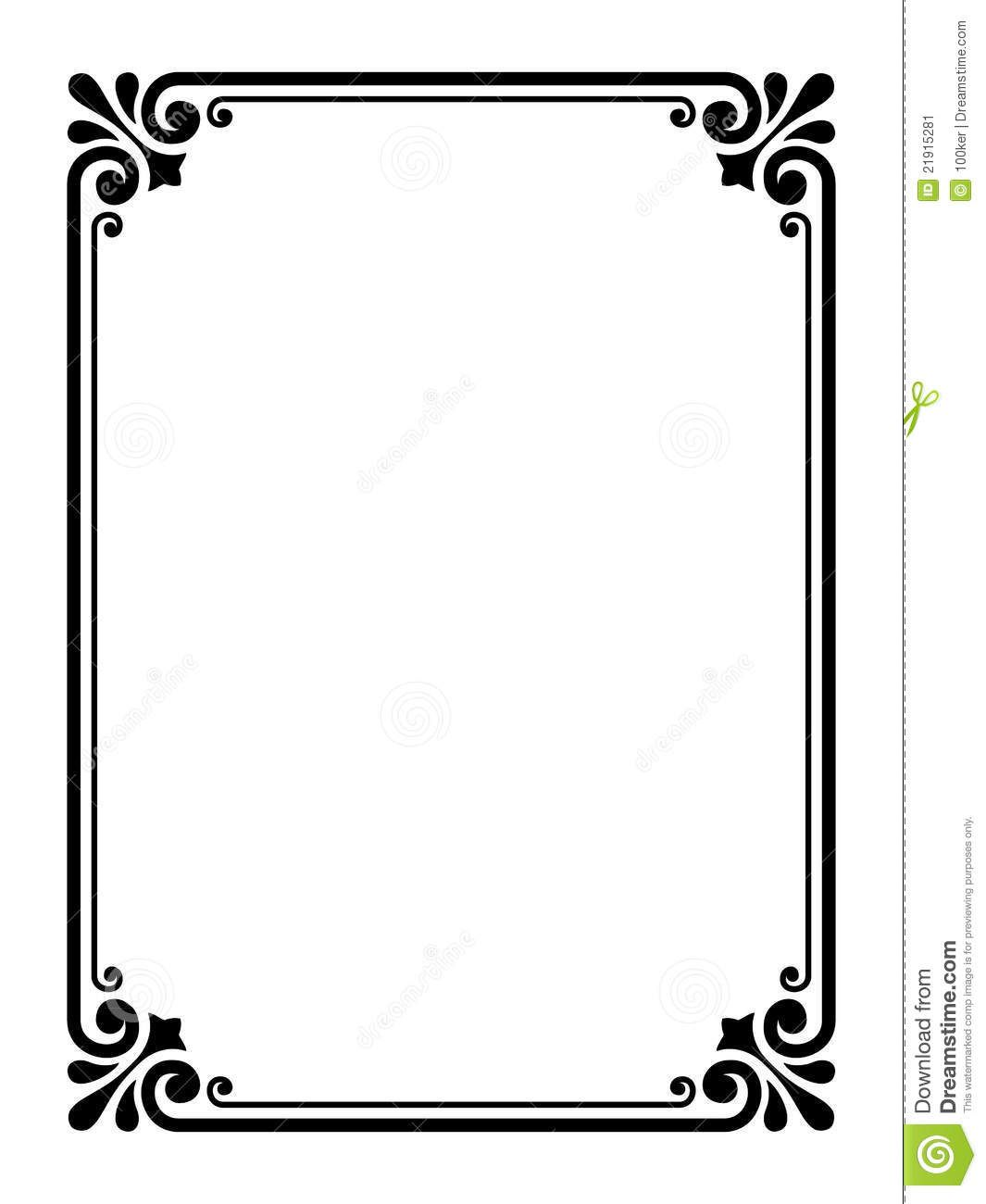 1065x1300 Simple Frame Clipart