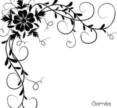 234x216 Drawn Design Flower Border