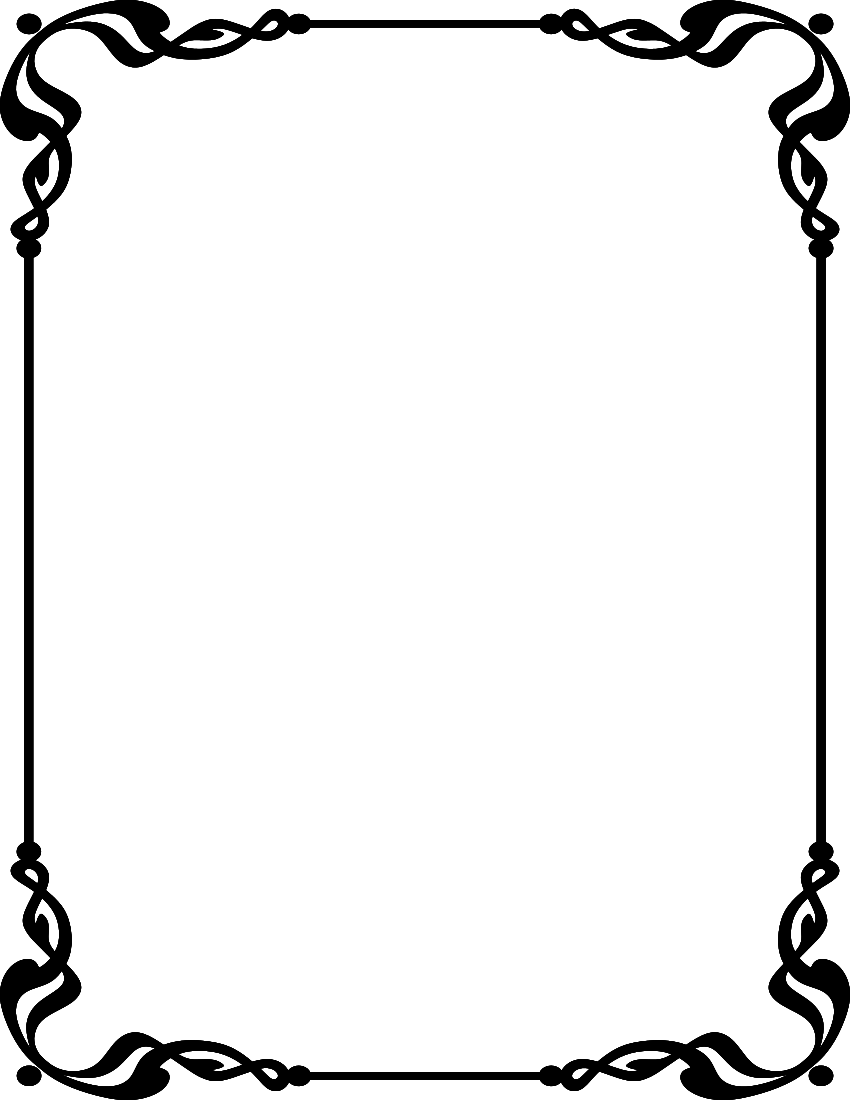 850x1100 Line And Borders Clipart