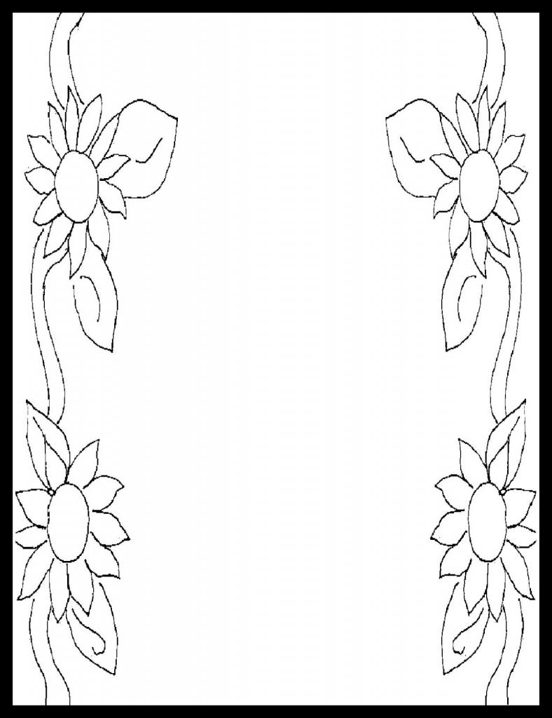 788x1024 simple pencil design for borders design picture pencil sketch page