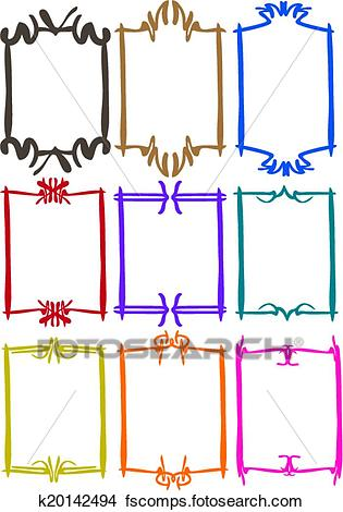 315x470 Clipart Of Simple Border Designs With Different Colors K20142494