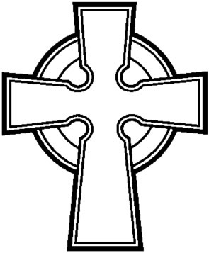 295x357 Simple Celtic Cross Clip Art Clipart Panda