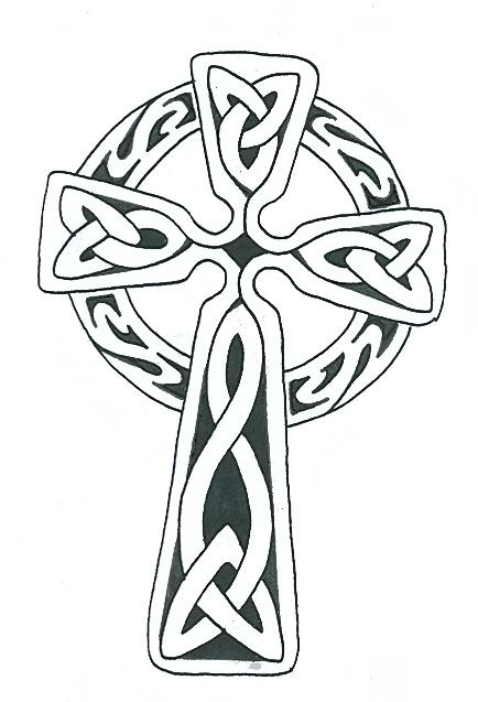 434x637 Celtic Cross Tattoo
