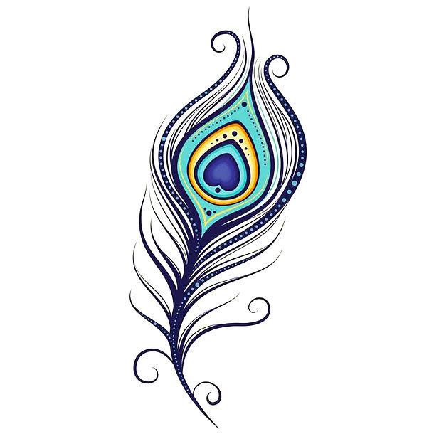 Simple Colorful Peacock Drawing Free Download Best Simple Colorful