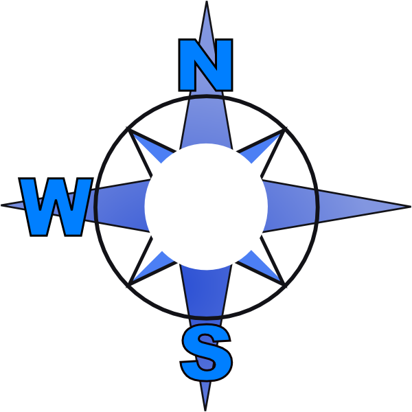 600x600 East Clipart Simple Compass