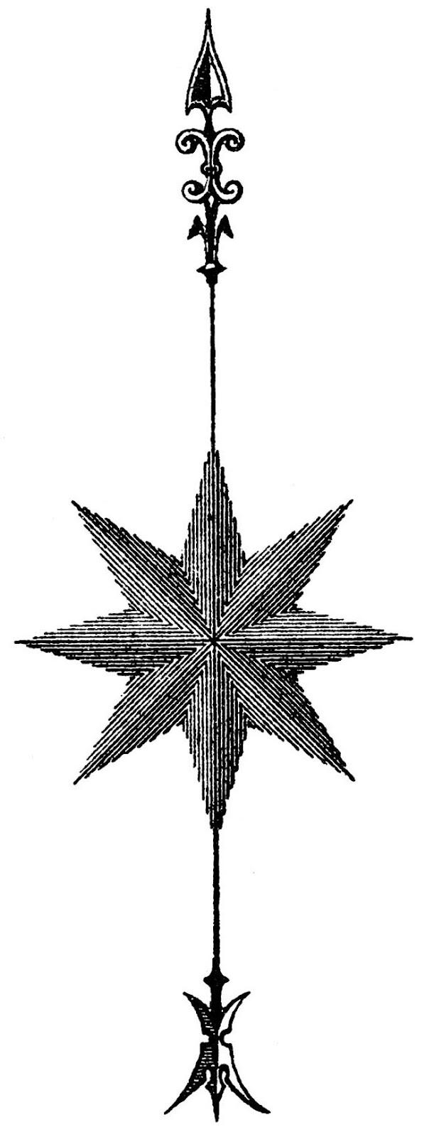 611x1600 Retro Star Clipart