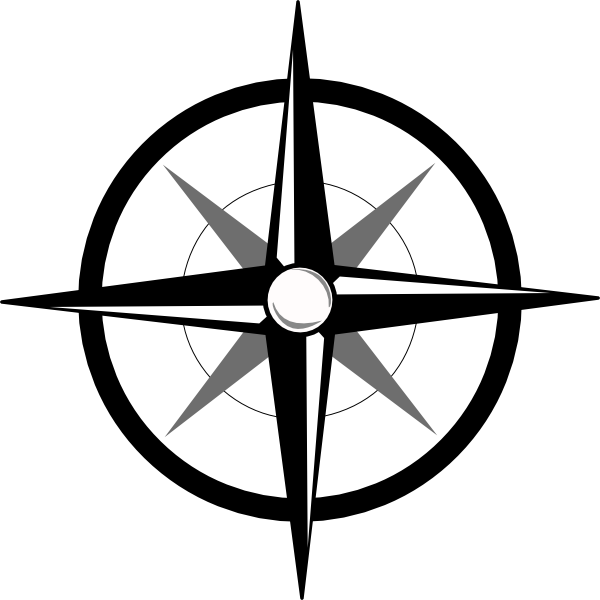 600x600 Simple Compass Clip Art