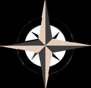 299x288 Tan Compass Rose Clip Art