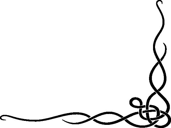 600x448 Swirl Border Clip Art
