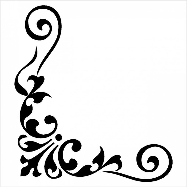 600x600 Corner Border Designs Clip Art Clipart