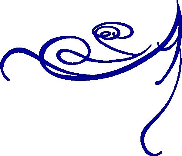 600x515 Corner Blue Clip Art