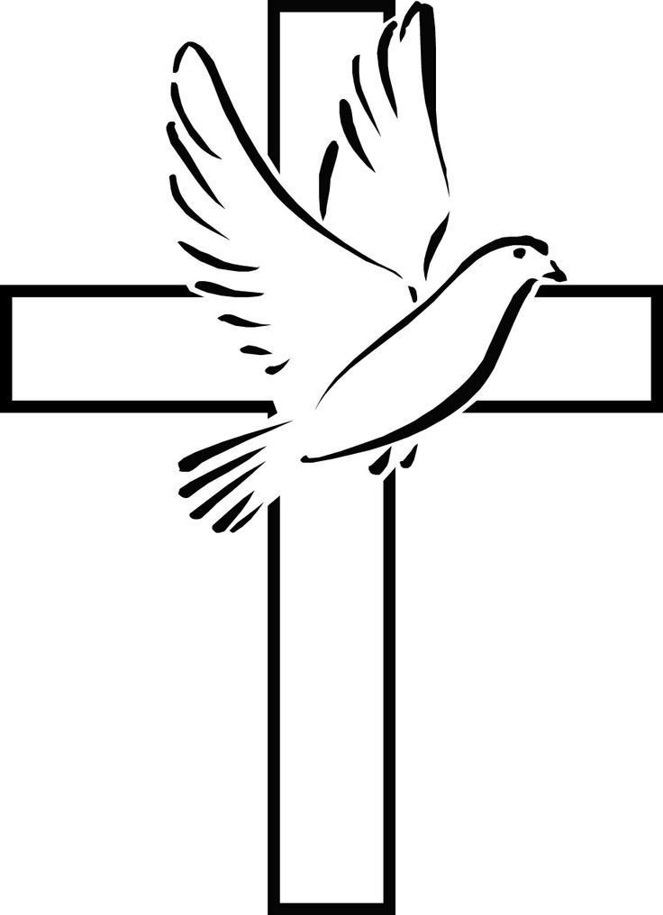736x1016 Cross With Dove Clipart Clipart Panda