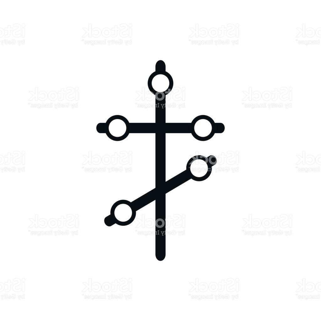 1024x1024 Orthodox Cross Icon In Simple Style Vector