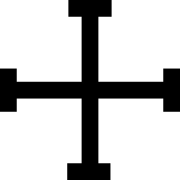 600x600 Simple Black Cross Clip Art Free Clipart Images 4