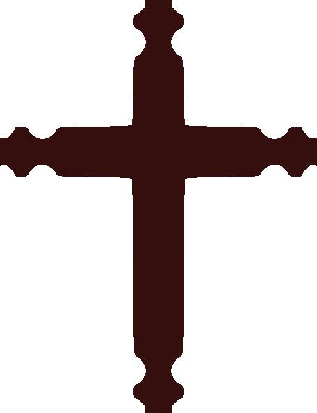456x594 Brown Cross Clip Art