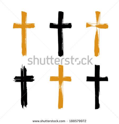450x470 Brush Clipart Cross