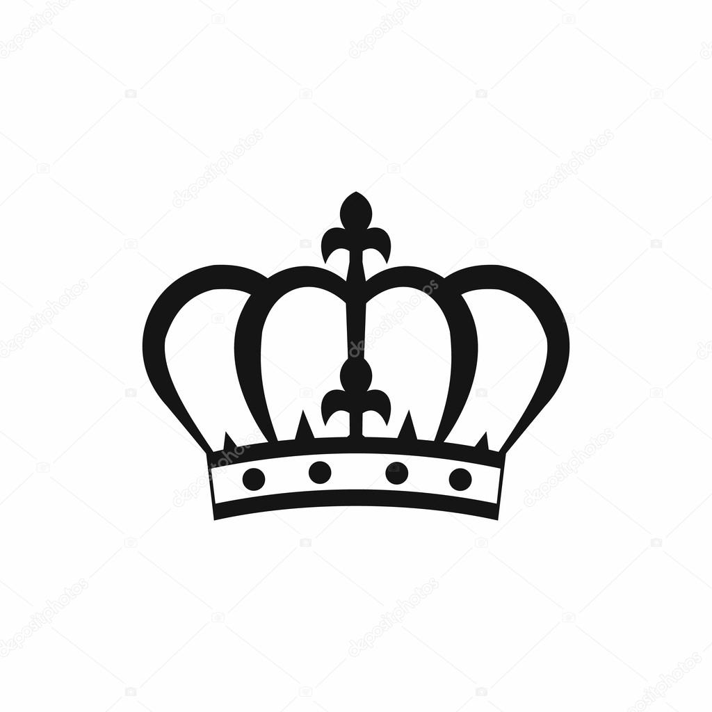 1024x1024 Crown Icon In Simple Style Stock Vector Juliarstudio