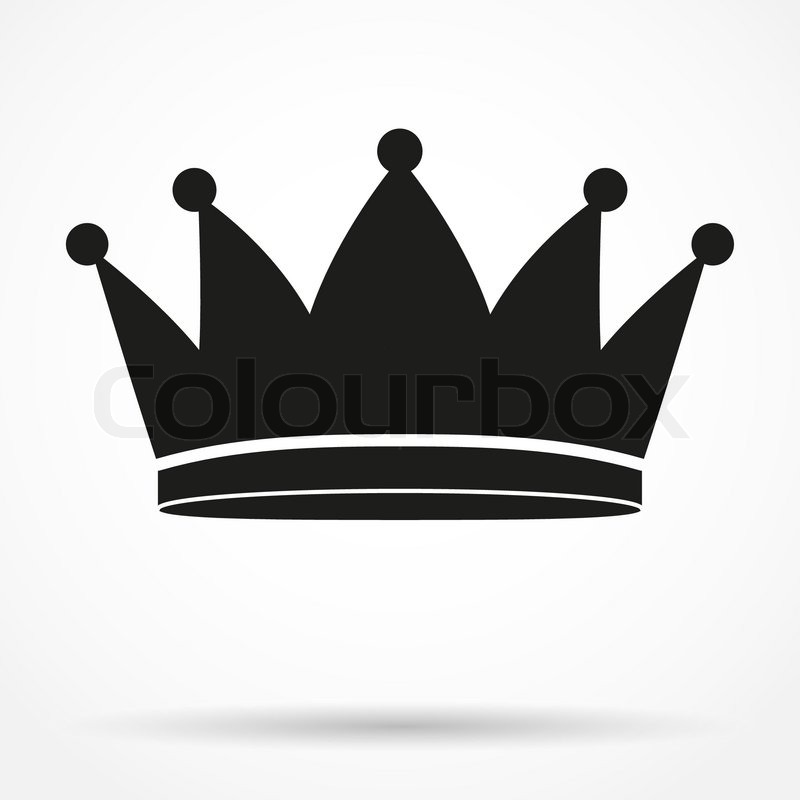 800x800 Silhouette Simple Symbol Of Classic Royal King Crown. Vector