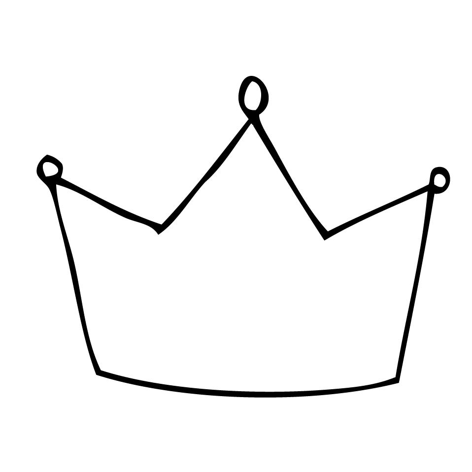 958x958 Simple Crown Drawing