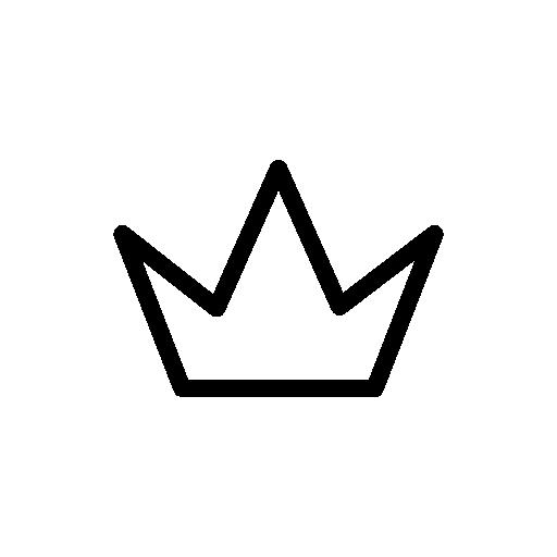 512x512 Simple Crown Outline Clipart Panda