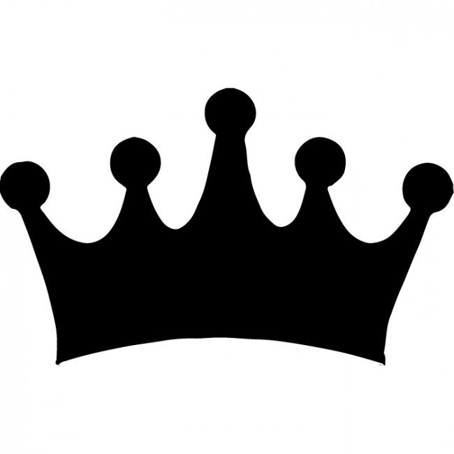 650x650 Crown Silhouette Clipart