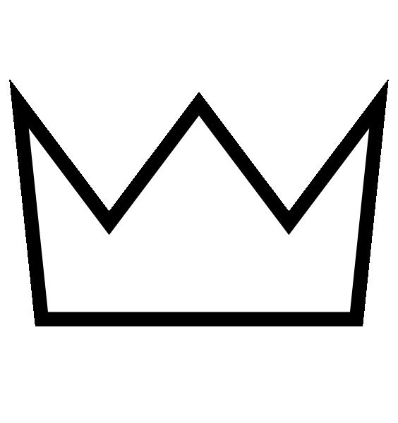 564x600 Crown Clipart Simple Crown