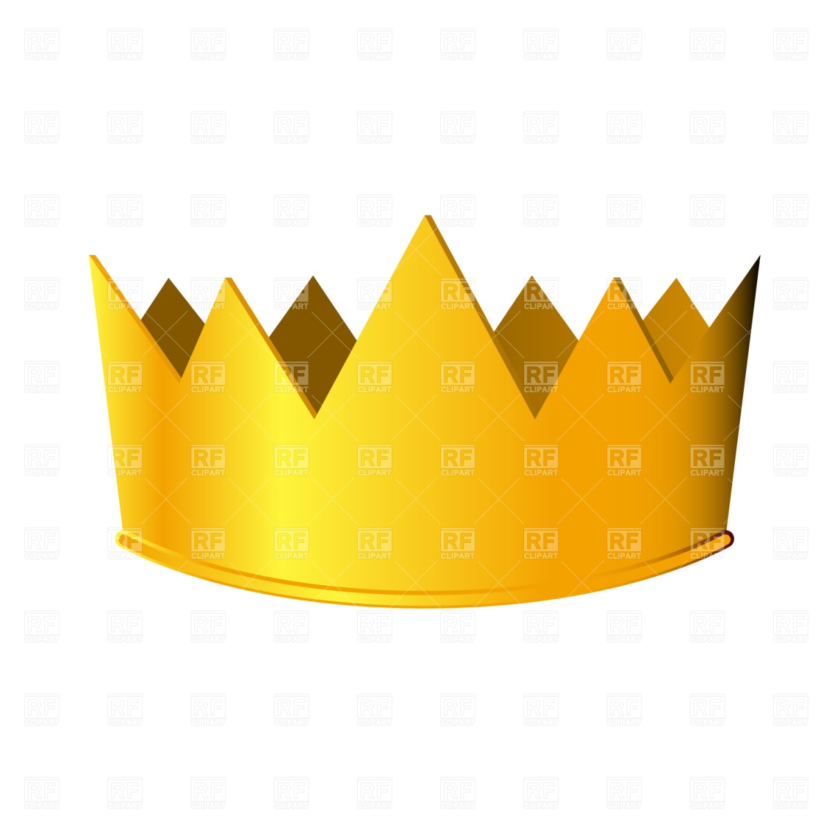 1200x1200 Golden Crown Royalty Free Vector Clip Art Image