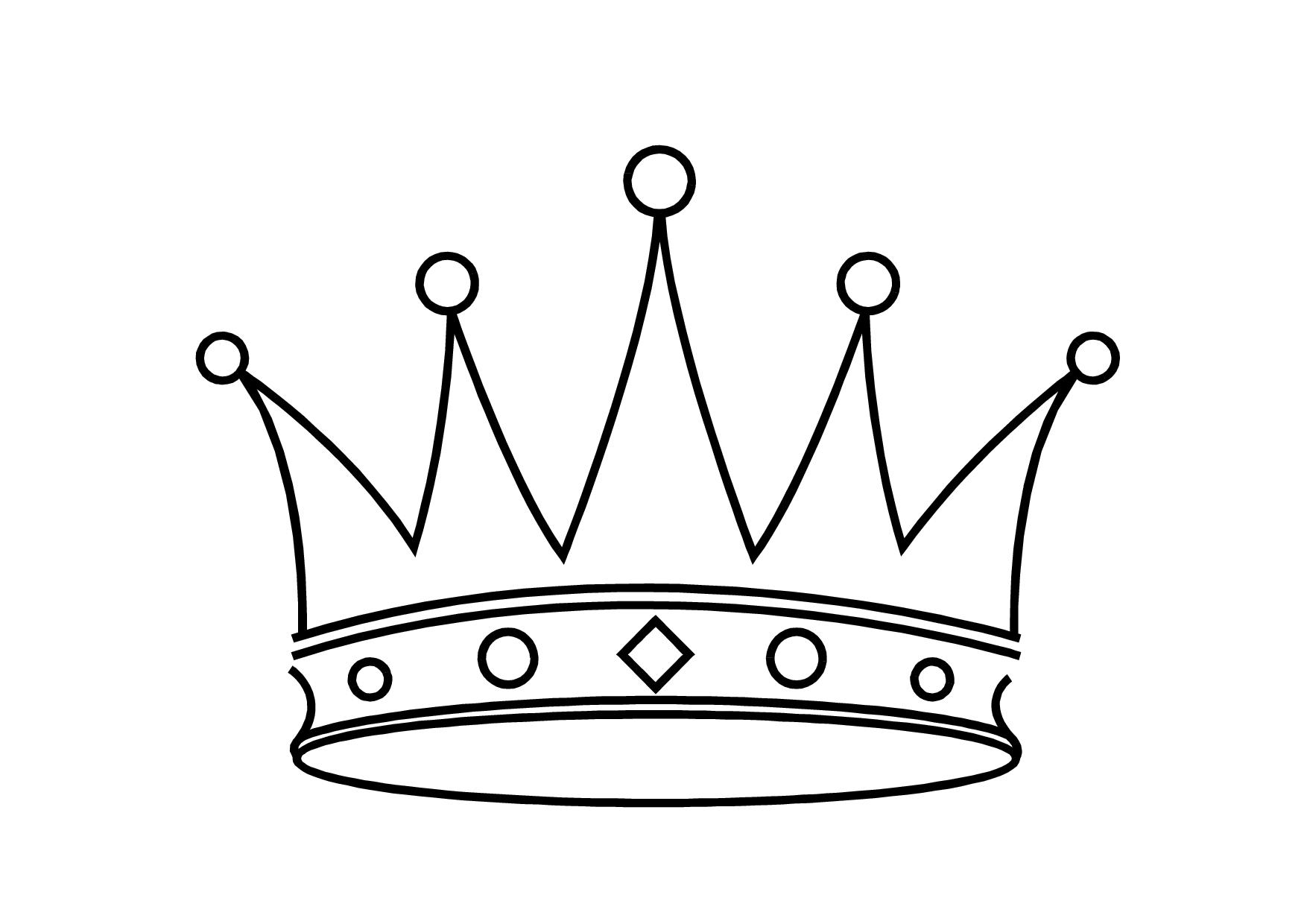 1754x1240 Simple Crown Drawing