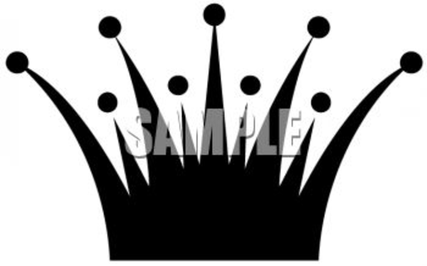 600x374 Simple Spiked Crown Clip Art Silhouette Clipart Image Free