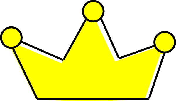 600x347 Simple Yellow Prince Crown Clipart