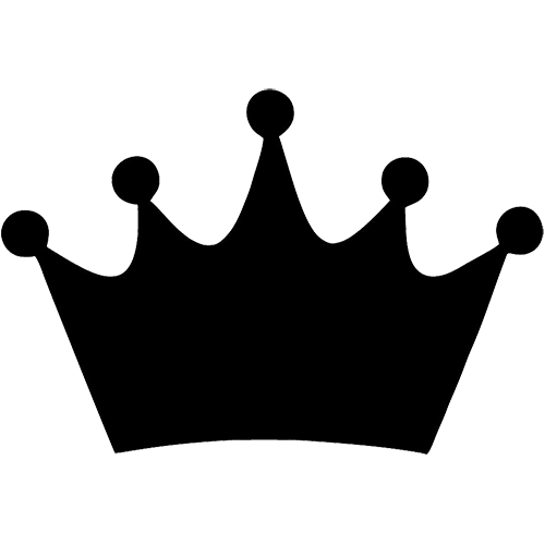 500x500 Crown Clipart Black And White