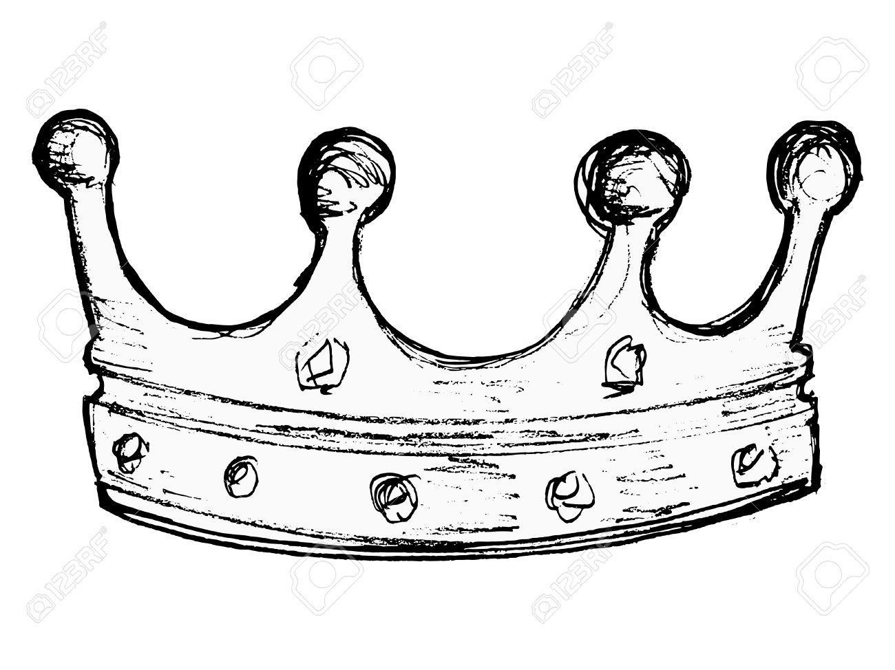1300x974 Drawn Crown Line Drawing