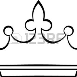 268x268 Simple Crown Coloring Page Kids Drawing And Coloring Pages