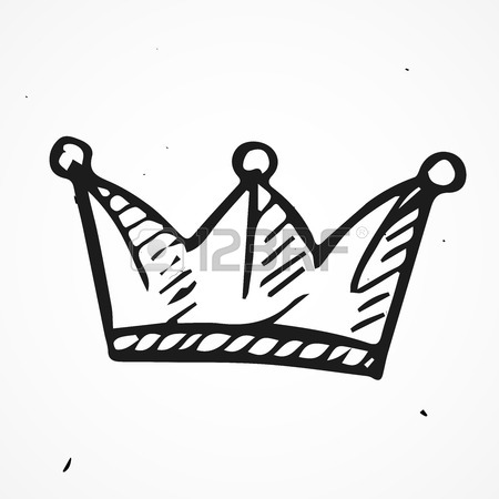 450x450 Simple Doodle Crown Icon, Vector, Hand Drawn Royalty Free Cliparts