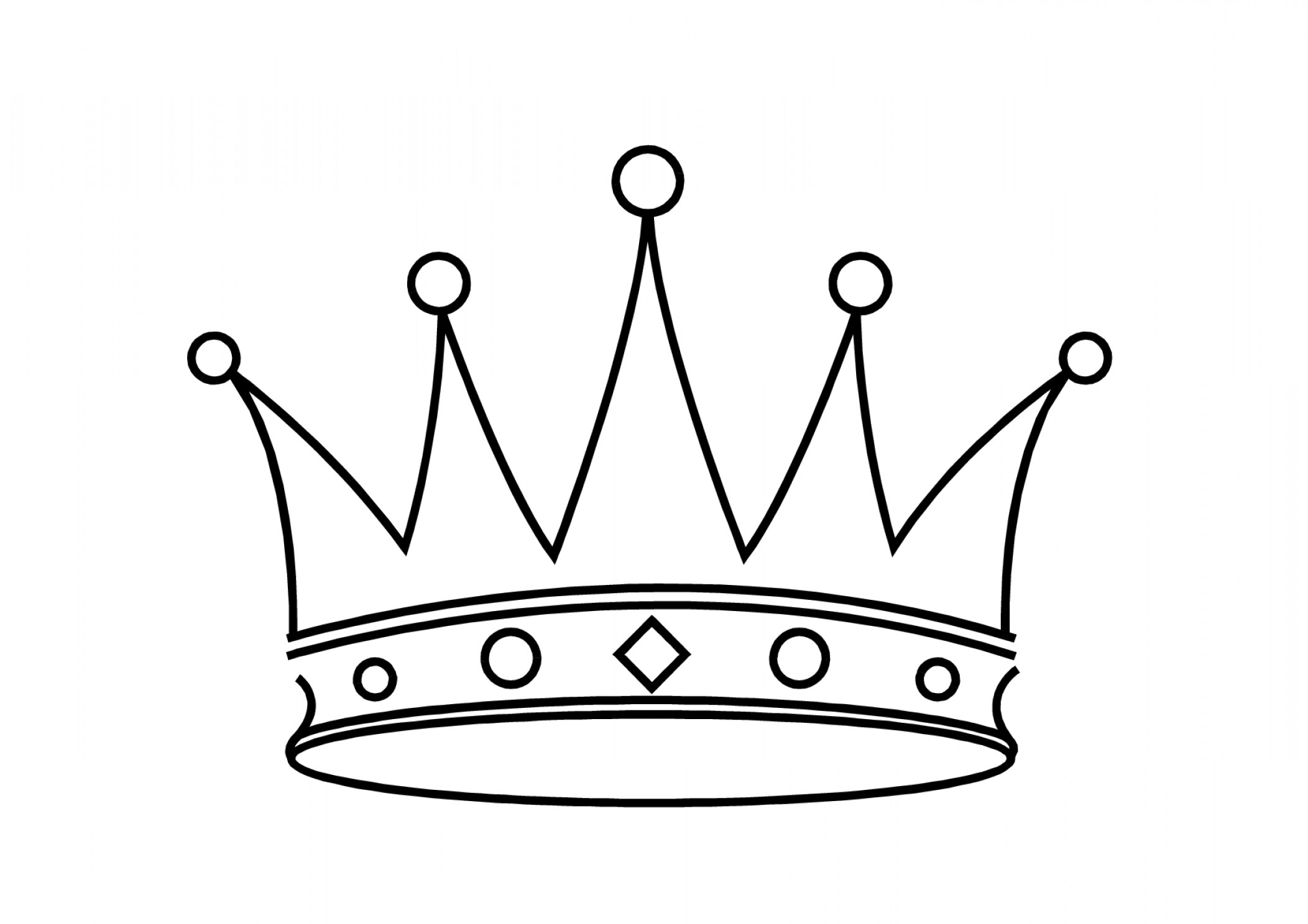 2104x1488 Simple Drawing Of A Crown Exclusive Simple King Crown Drawing